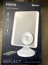 iHome Vanity Mirror with Bluetooth Audio, Led Lighting, Bonus 10x Magnification