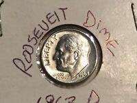 • 1963 D Roosevelt Dime RPM Error coin 10¢ USA SILVER MO Rare Nice