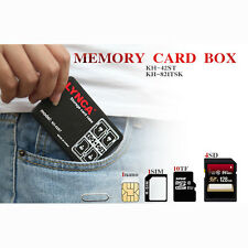 Memory Card Storage Case Holder 16 Slot Micro SD TF SIM Nano Carrying Pouch Box