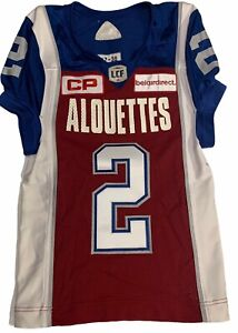 Adidas Johnny Manziel Montreal Alouettes CFL Football Autographed Game Jersey