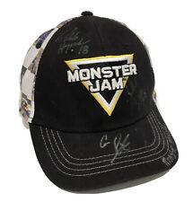 Monster Jam Trucks Racing Racer Autographed Youth Kids Black Rare Auto Hat Cap