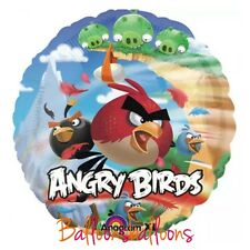 "Angry Birds 18"" round helium balloon birthday party Anagram Uk"