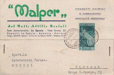 LA SPEZIA-MALPER PRODOTTI CHIMICI E FARMACEUTICI DEL DR.PERIOLI-V.LE SAVOIA-1947