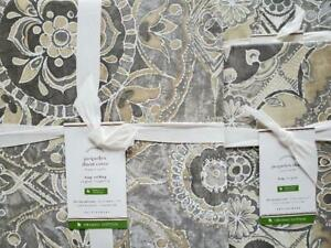 Pottery Barn Jacquelyn KING Duvet and 2 King Shams ~ Gray