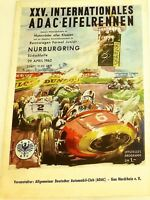 29. April 1962 Xxv Int ADAC Course de L' Eifel Nürburgring Brochure Programme