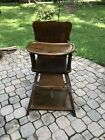 1980%27s+Vintage+Wood+High+Chair.+All+Pieces+Real+Wood%21