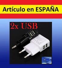 DOBLE cargador móvil 2 x conectores USB pared dual corriente tablet smartphone