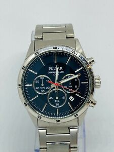 PULSAR by Seiko MEN'S STAINLESS STEEL CHRONOGRAPH WATCH VD53-X001