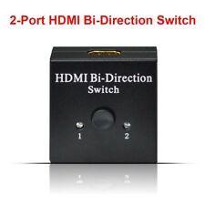 HDMI Bi-directional 2x1 Switch Switcher or 1x2 Splitter Selector 3D 4K HDCP 2.2.