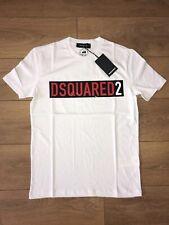 Dsquared2 DSQ2 WHITE/RED LOGO T SHIRT -  SEE SIZES  **