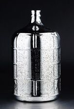 "New 19"" Hand Blown Glass Art Vase Bottle Silver Decorative"