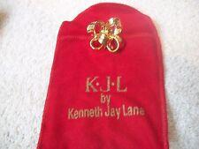 KENNETH J LANE KJL Fun Goldtone BOW Statement Ring Sz  5 Free Ship