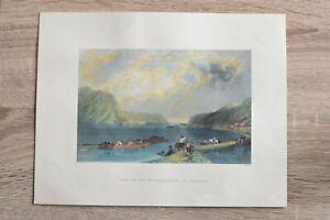 1840 Bartlett print VIEW ON SUSQUEHANNA, AT LIVERPOOL, PENNSYLVANIA (#18)