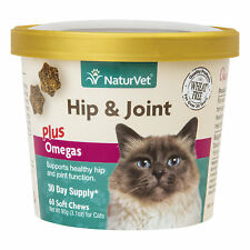 NaturVet Hip & Joint Cat Supplement, Pack of 60 Soft Chews
