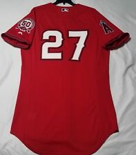 Authentic Majestic 52 2XL LOS ANGELES ANGELS MIKE TROUT COOL BASE ROOKIE Jersey