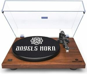 ANGELS HORN Vinyl Record Player Belt Drive 2 Speed, AT-3600L cartridge