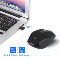 Wireless Mouse 2.4GHZ Type C Mouse USB C Mice for Macbook/ Pro USB C Devices