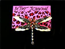 dragonfly Charm Woman Brooch Pin Betsey Johnson fashion Cute Enamel crystal