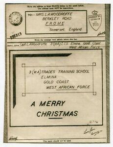 Gold Coast 1944 Censored Christmas Airgraph