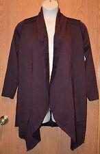 Womens Black Wine French Laundry Poncho Jacket Shawl Size Small NWT NEW