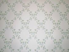 Tiny Blue Flowers & Lattice Vines on White Wallpaper by Sunworthy 41287010
