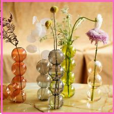 Bubble Glass Vase Crystal Ball Flower Arrangement Art Flower Ware For Home Decor