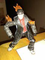 2005 Marvel Fantastic Four Snowboarding Human Torch Action Figure