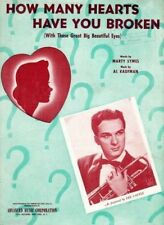 How Many Heart Have You Broken, Photo of Lee castle, 1943 Vintage Sheet Music