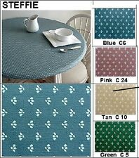 """Tablecloth Bistro Cover 24"""" to 34"""" Elastic Edge Fitted Vinyl Table Tan Flower"""