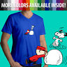 Peanuts Snoopy Dance Charlie Brown Winter Snow Comics Mens Tee V-Neck T-Shirt