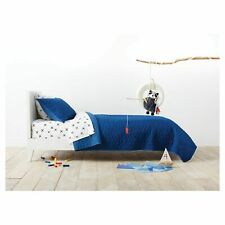 Pillowfort Triangle Stitch Polyester Blue Reversible TWIN Quilt