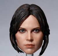 "1/6 Scale Female Rogue One Chief Actress Jyn Erso Head Sculpt Model F 12"" Figure"