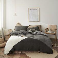 Knitted Collision Velvet Flannel Fleece Bedding Set Cover Bed Linen Fitted Sheet