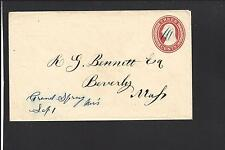 GRAND SPRING, WISCONSIN COVER. U-9 NESBITT. RARE TOWN: DANE. DPO: 1846/58. SR/7