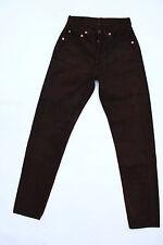 RARI jeans Levis Da Uomo Marrone Scuro Denim 80s RED TAB Skinny Slim Fit W24 L30 BUONO