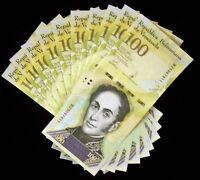 10 x Venezuela 100000 (100,000) Bolivares, 2017, P-100, UNC banknotes / currency