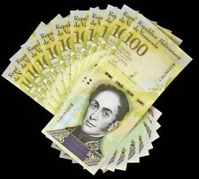 10 x Venezuela 100000 (100,000) Bolivares, 2017, P-100, aUNC banknotes /currency