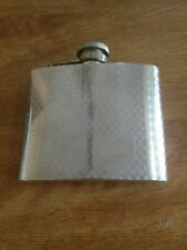 Vintage Stainless Steel Flask - Curved