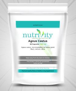 Agnus Castus 1000mg Capsule Nutrivity UK Menopause, Milk Support Supplement