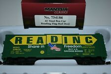 Mantua Classics 734186 Reading Freedom 41' All Steel Boxcar Green Yellow
