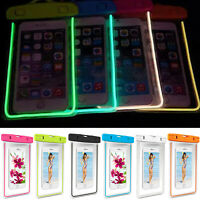 Sport Waterproof Underwater Pouch Phone Dry Bag Luminous Glow Case For Cellphone