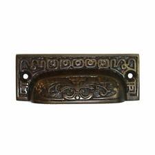 Rectangular Bin Pull Oil Rubbed Bronze Finish Antique Hardware Restoration Style
