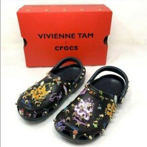 Vivienne Tam x Crocs Women's Multicolor Studded Dragon Print Unisex Sizes