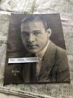 "Rare Original Unpublished SIGNED Photo RUDOLPH ""THE SHEIK"" VALENTINO 9""x7"""