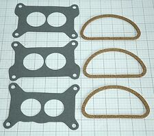 1967 69 CORVETTE TRI POWER GASKET SET-CARBS TO INTAKE AND TO AIR CLEANER 6PC NEW