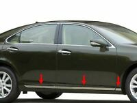 fit:2007-2012 Lexus ES 350 6Pc Flat Stainless Steel Body Side Molding Trim 3/4""