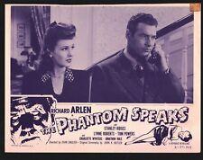 PHANTOM SPEAKS 4 Lobby Cards (Fair) 1957 ReRelease Horror Stanley Ridges 15545