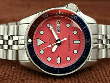 SEIKO DIVER 7S26-0030 SKX013 STUNNING PINK/RED MOD AUTOMATIC MEN'S WATCH 682196