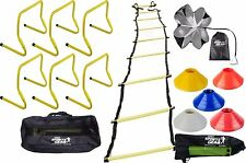 Sports Agility Training Adjustable Agility Hurdles Ladder Chute Cones Combo Set