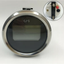 52mm LED Car Boat GPS Speedometer Gauge MPH Km/h Knots Silver Bezel Red Backlit